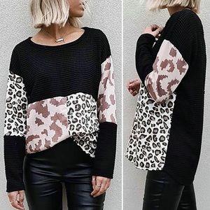 Cheetah Colorblock Long Sleeve  Top